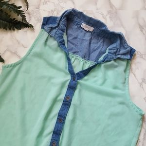 Anthropologie Mine Sleeveless Blouse Sz M